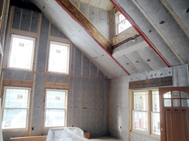 New construction penobscot home performance for Best insulation for new home construction